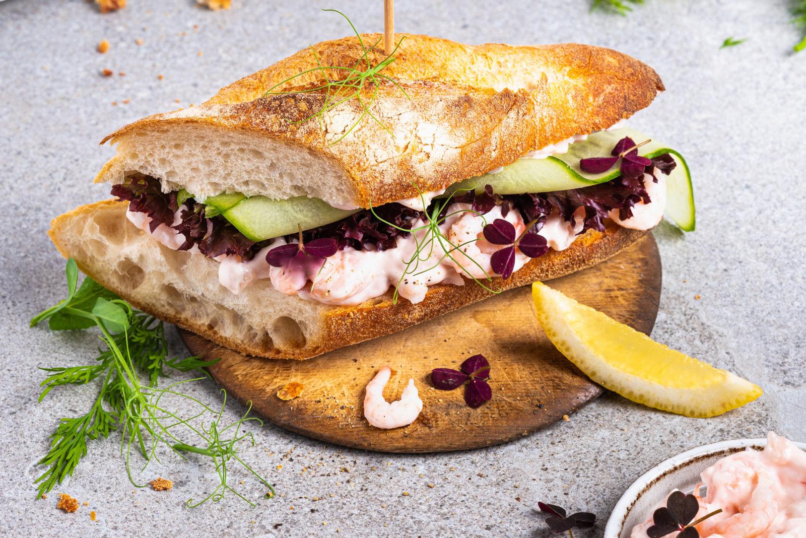 Rekesalat sandwich