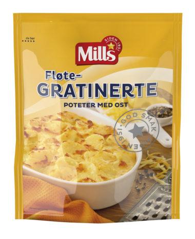 Mills fløtegratinerte poteter med ost