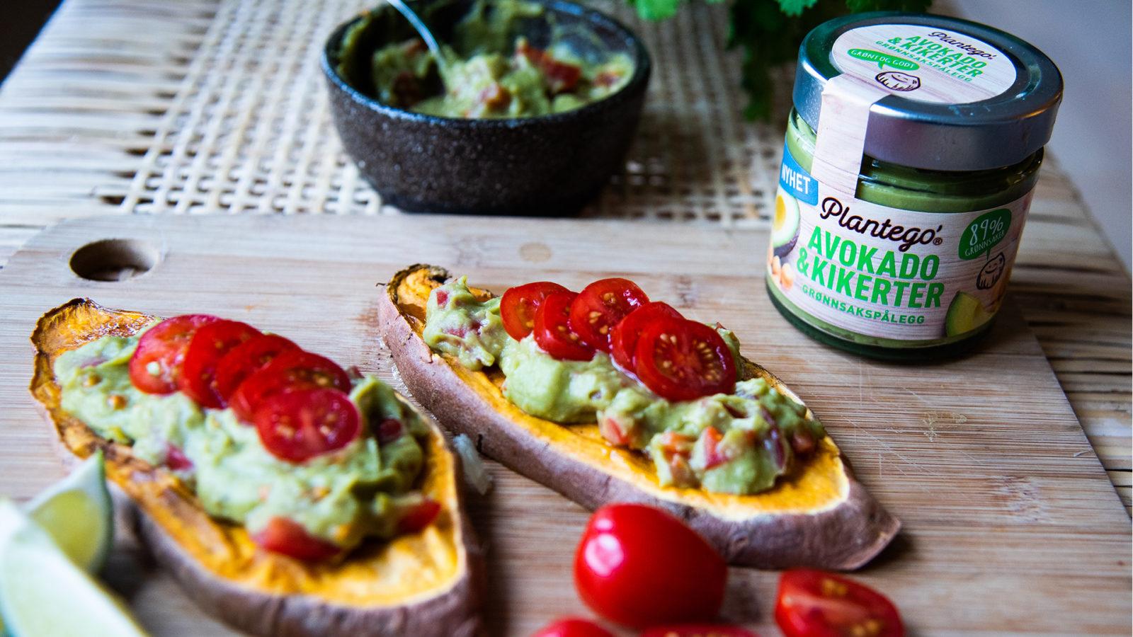 Søtpotettoast med Plantego' Avokado og kikerter