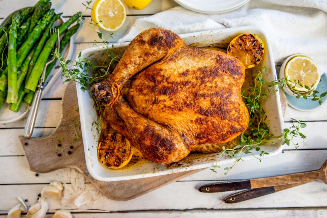 Helstekt kylling