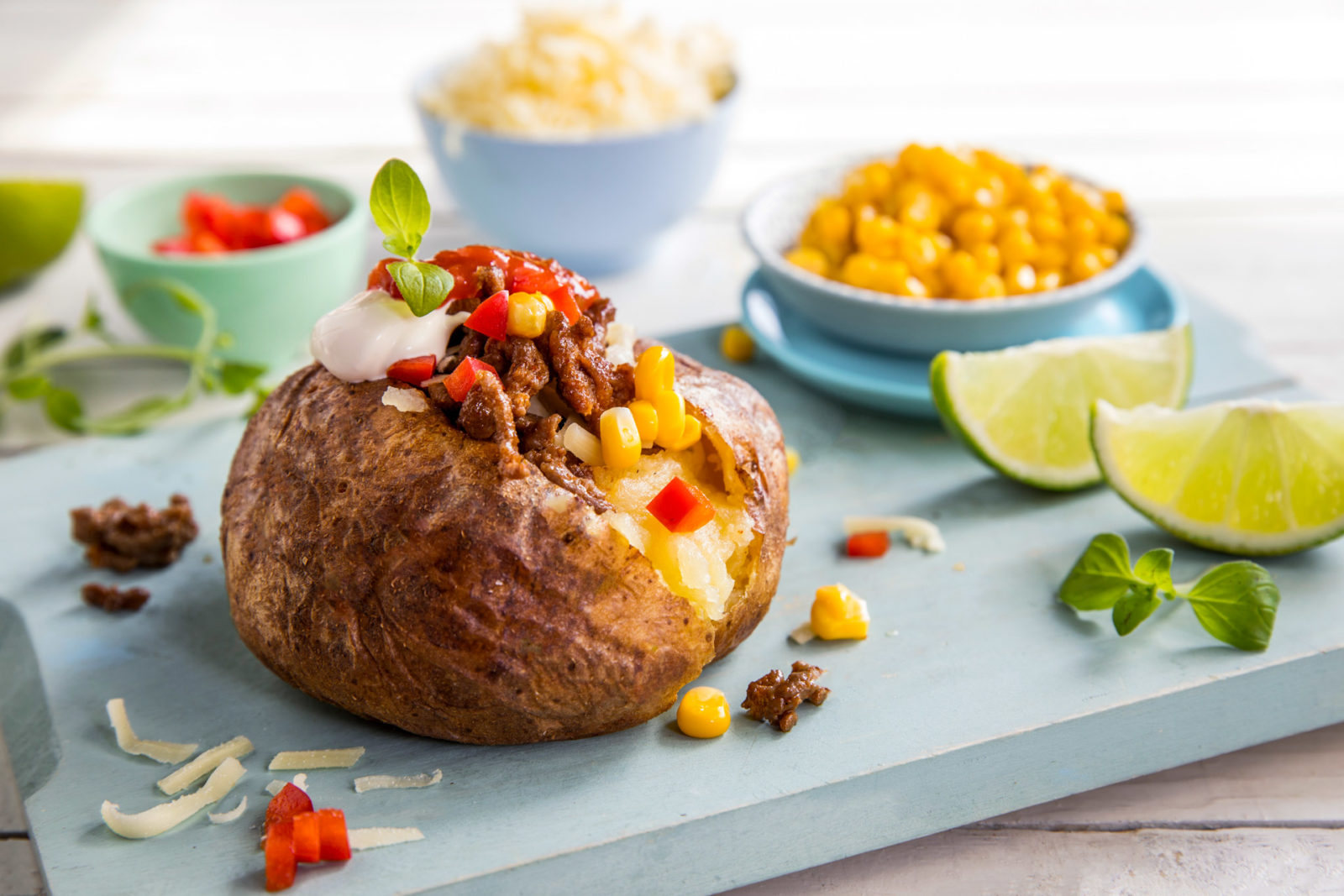 Bakt potet med tacofyll
