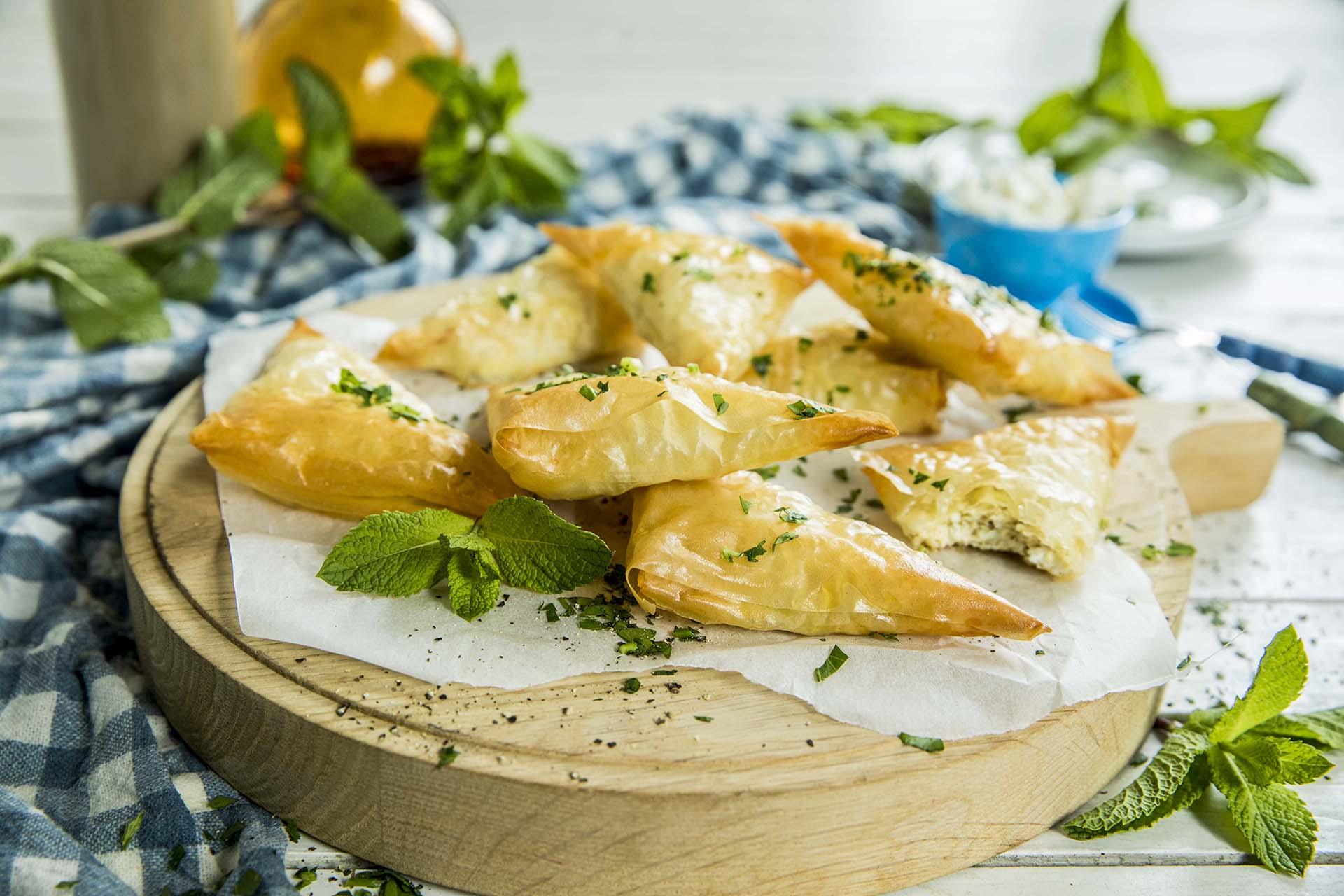 Tiropitakia – små ostepaier fra Hellas