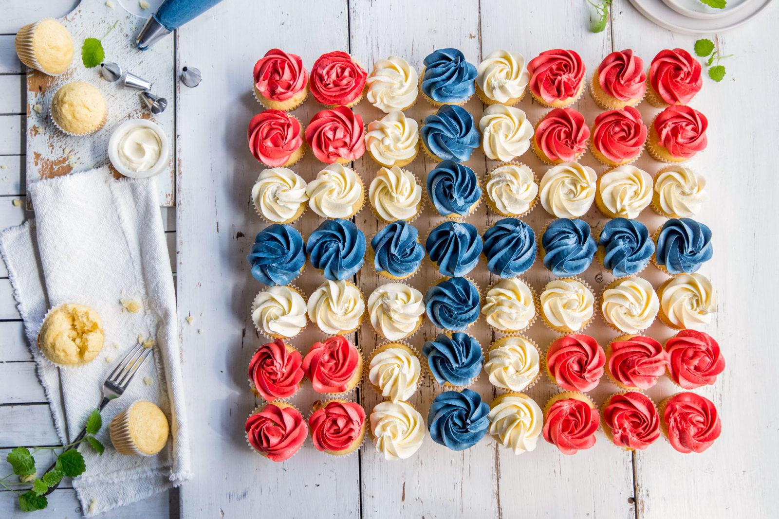 Muffins i flaggformasjon