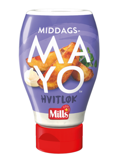 Mills Middags-MAYO Hvitløk
