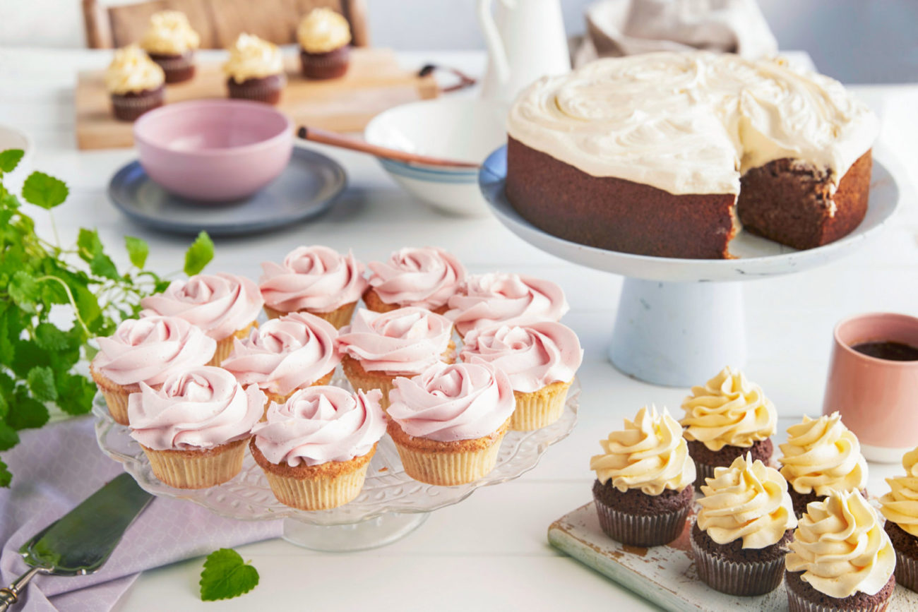 Perfekt glasur på kaker og muffins