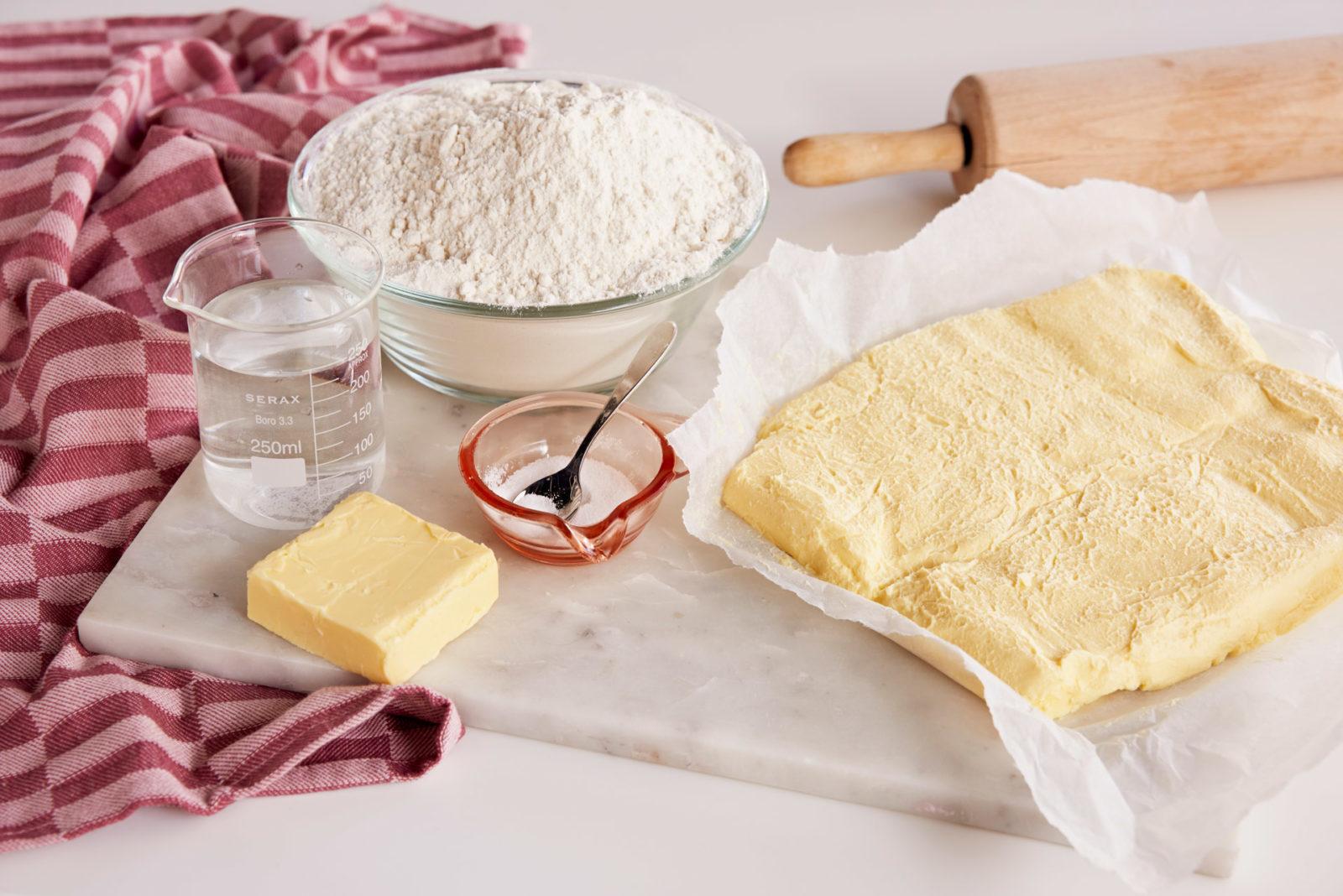 Ingredienser til butterdeig