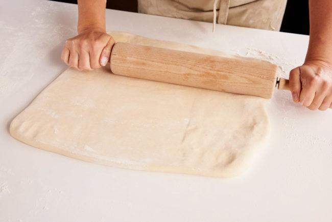 Kjevle butterdeig kvadrat
