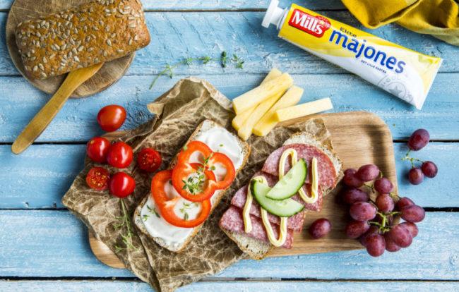 Matpakke med salami og smøreost