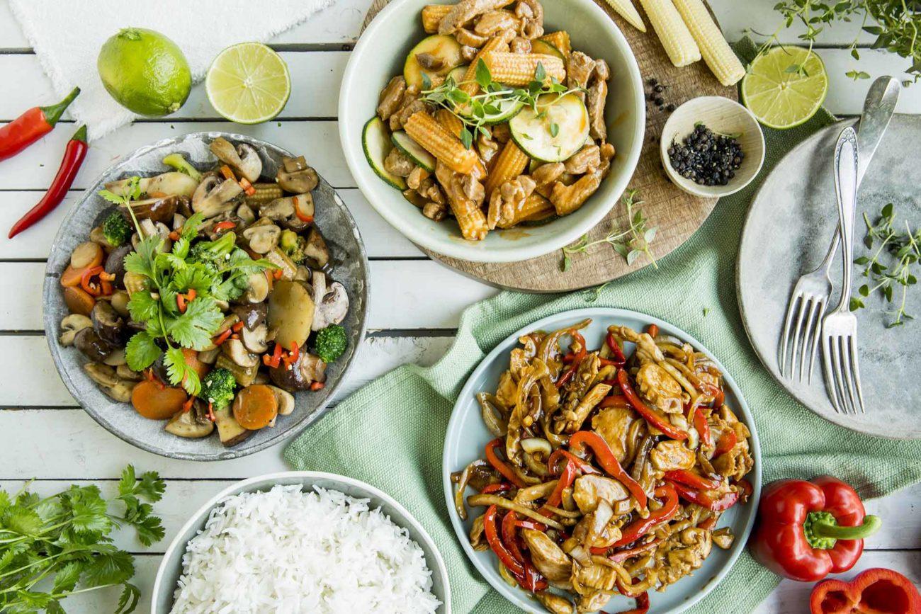 Tre oppskirfter på wok