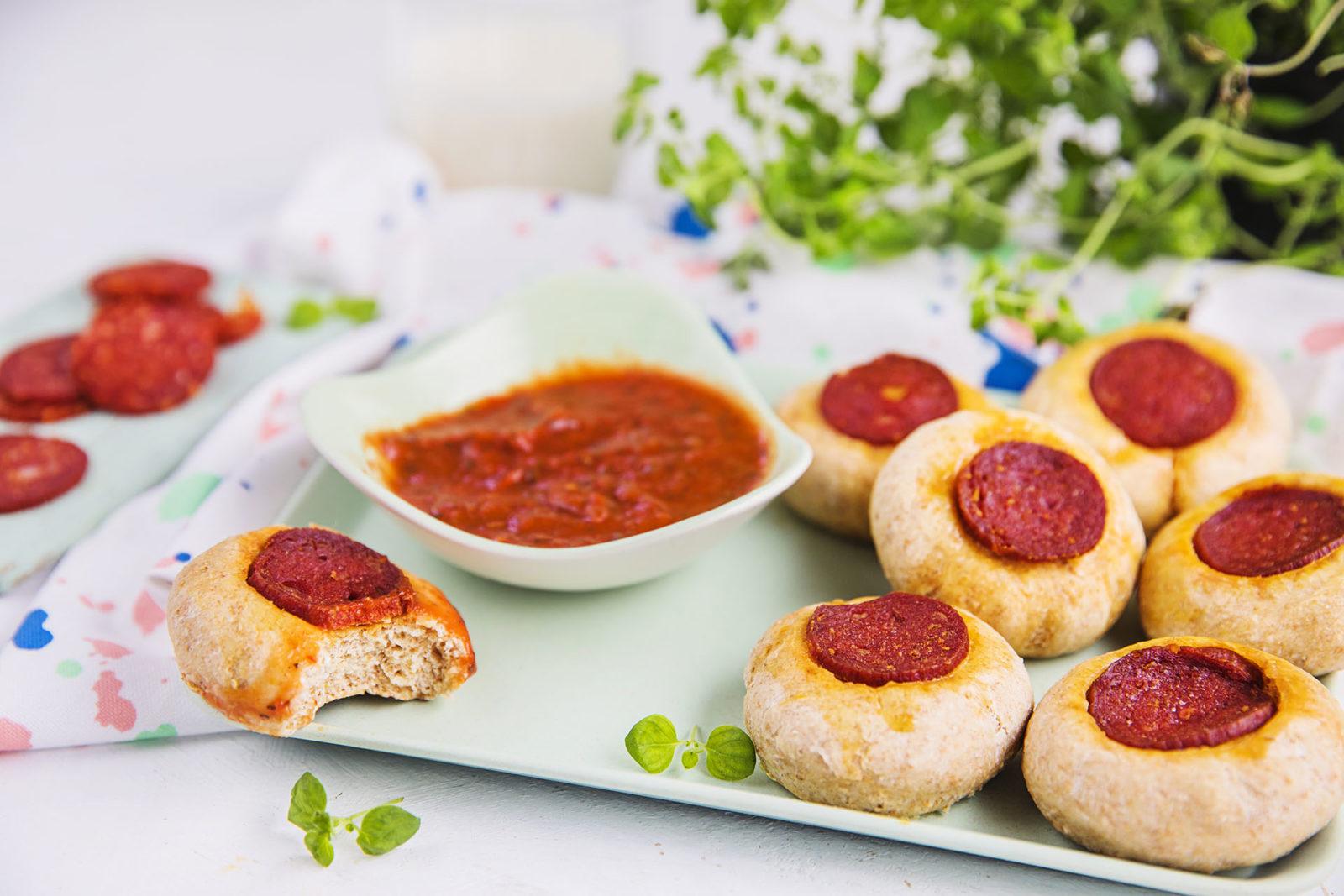 minipizza med pepperoni