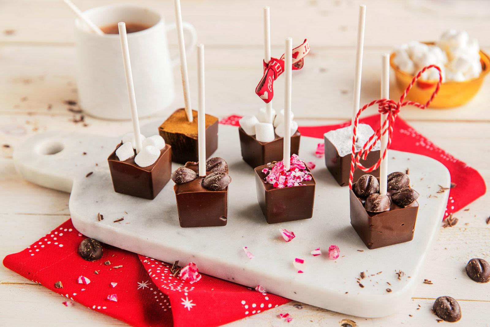 Kakao på pinne. Foto.