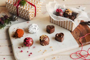 Julekonfekten - spiselige julegaver. Foto.