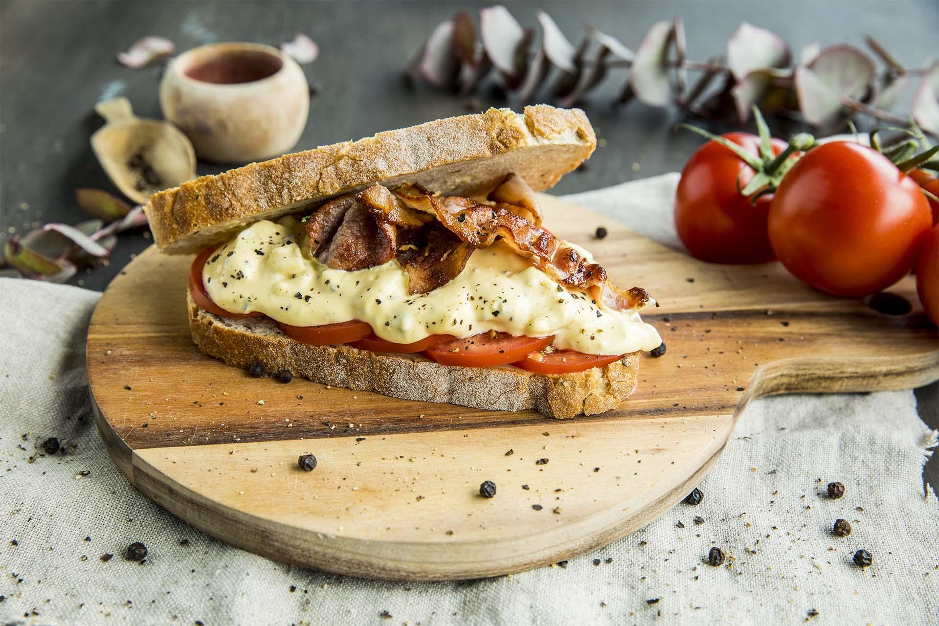 Sandwich med eggesalat