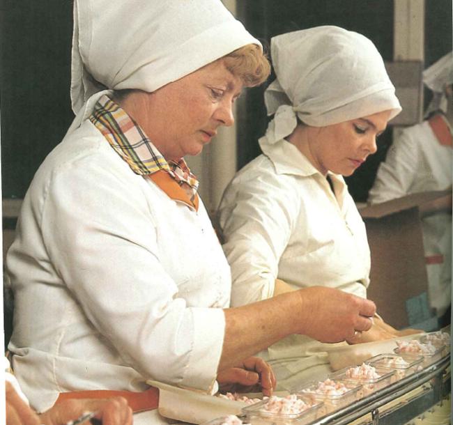 Delikat salater pyntes for hånd