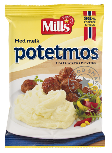 Mills Potetmos med melk