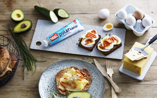 Mills polarkaviar og frokostbordet. Foto.