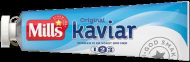 Mills kaviar tube. Foto.