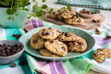 Myke cookies av havregrøt