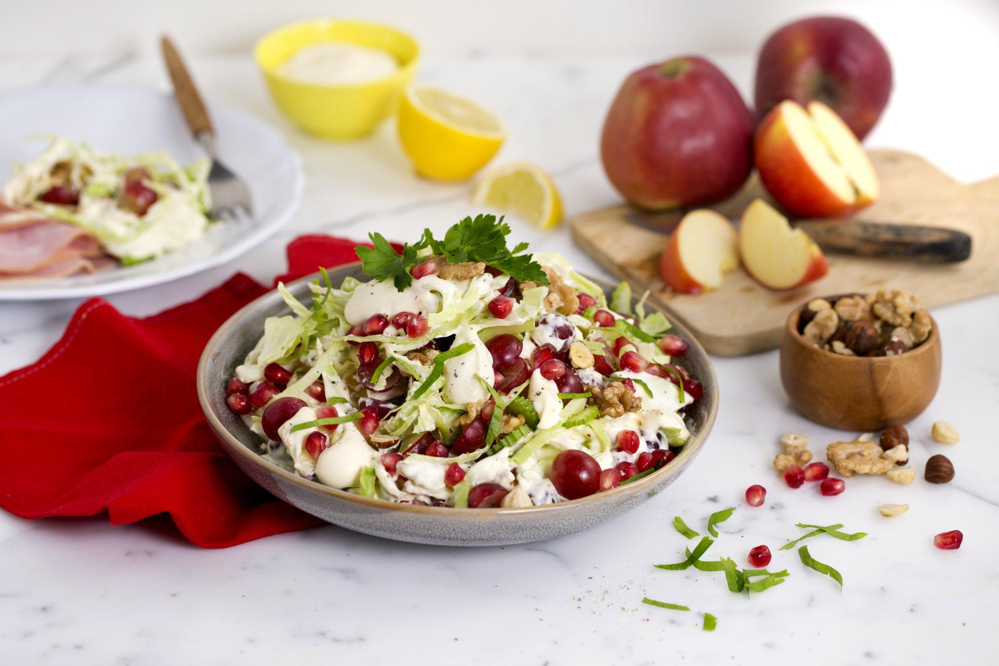 waldorfsalat med granateple