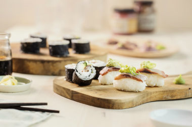 Nordisk sushi med sild