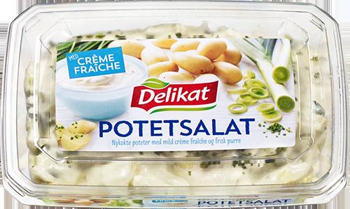 Delikat Potetsalat crème fraîche med purre