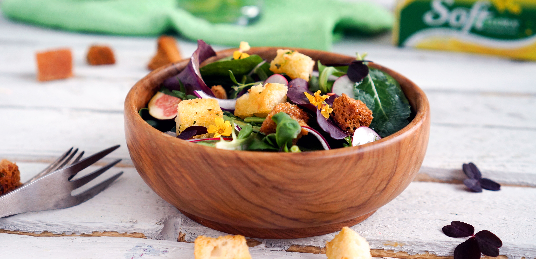hjemmelagde krutonger i salat