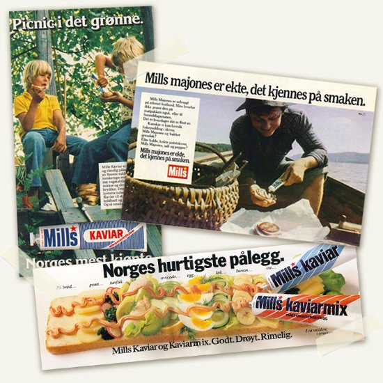Mills kaviar historie