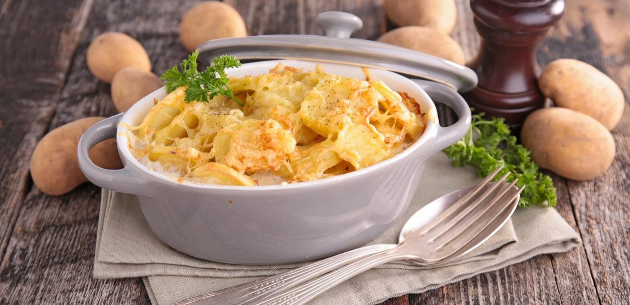 Fløtegratinerte poteter