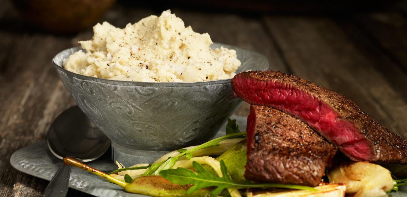 Mills potetstappe med biff