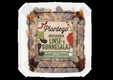 Plantego' Meksikansk linse- og bønnesalat. Pakningsbilde.