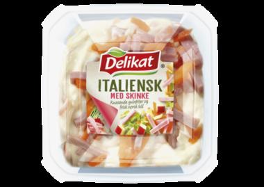 Italiensk salat med skinke. Pakningsbilde.