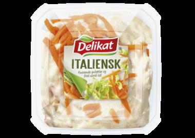 Delikat italiensk salat. Pakningsbilde.