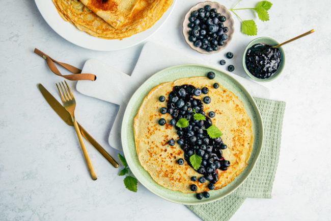 Veganske og melkefrie pannekaker