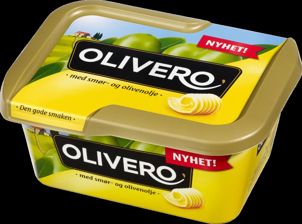 Olivero Original – Margarin med smør og olivenolje 18 x 400 g