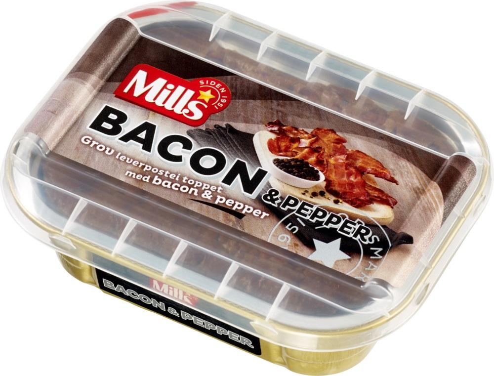 Mills Ovnsbakt Bacon – pepperpostei 8 x 185 g
