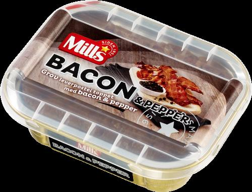 Mills Ovnsbakt Bacon- og pepperpostei 8×185 g