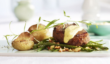 Biff med asparges stekt i Melange