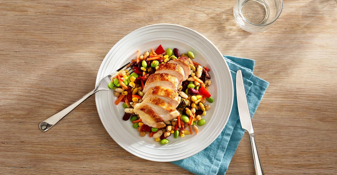 Delikat middelhavsalat med kylling