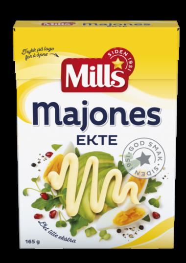 Mills Ekte majones pose