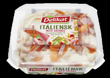 Delikat Italiensk salat med skinke