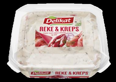 Delikat Reke og kreps salat
