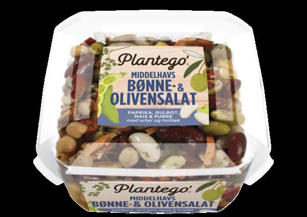 Plantego' Middelhavs bønne og olivensalat 8 x 300g