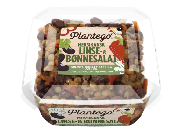 Plantego' Meksikansk linse- & bønnesalat 8 x 300g