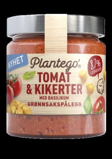 Plantego tomat og kikerter med basilikum