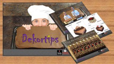 Dekortips til sjokoladekake - illustrasjon