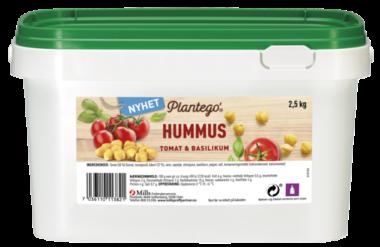 Plantego Hummus med tomat- og basilikum 2,5 kg packshot