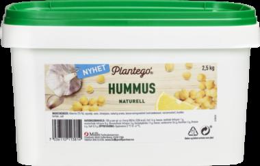Plantego hummus naturell 2,5 kg pack shot