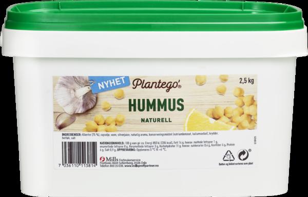 Plantego' Hummus Naturell 2,5kg