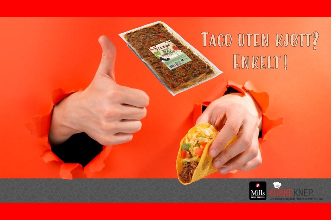 Forsidebilde kompendie Taco uten kjøtt
